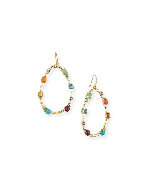 Ippolita - Metallic 18k Rock Candy Large Multi-stone Teardrop Earrings In Rainbow - Lyst