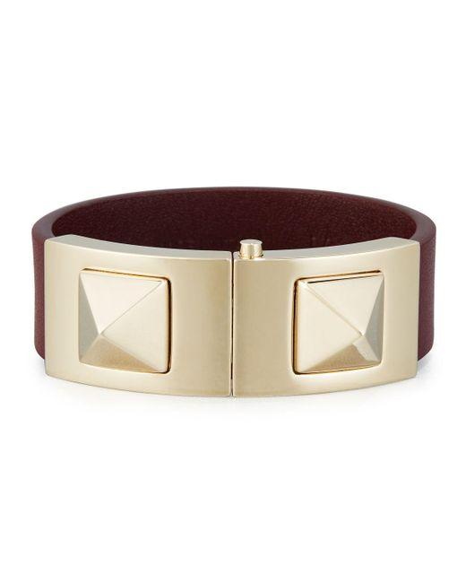 Valentino - Multicolor Rockstud Vitello Cuff Bracelet - Lyst