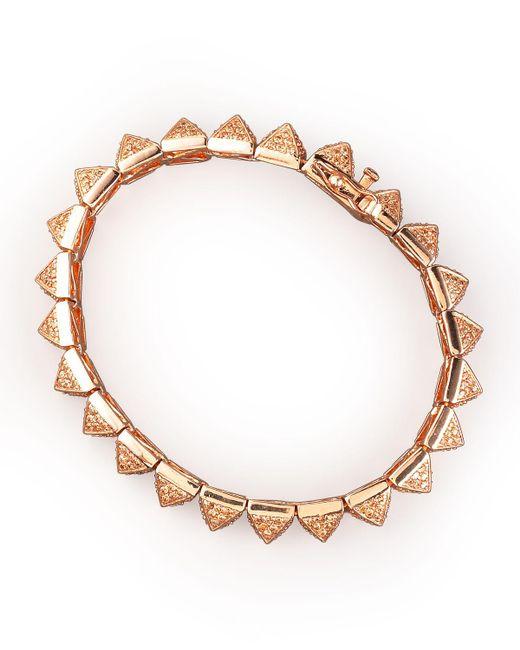 Eddie Borgo | Pink Small Pave Pyramid Bracelet | Lyst