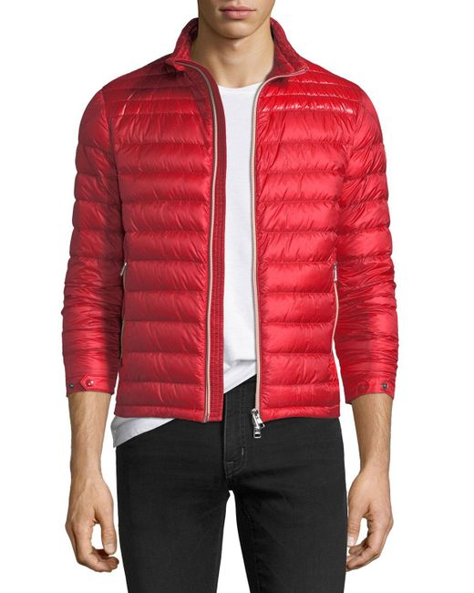 Moncler - Red Daniel Quilted Puffer Jacket for Men - Lyst