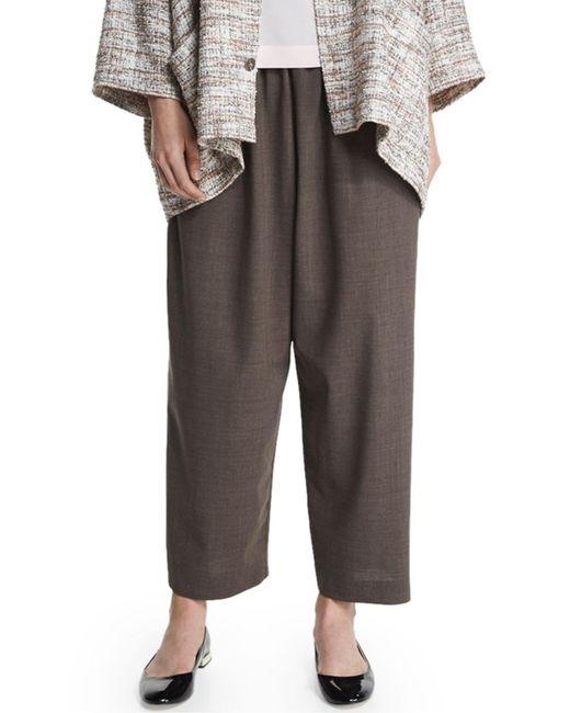 Eskandar - Brown Japanese Lightweight Wool Trousers - Lyst