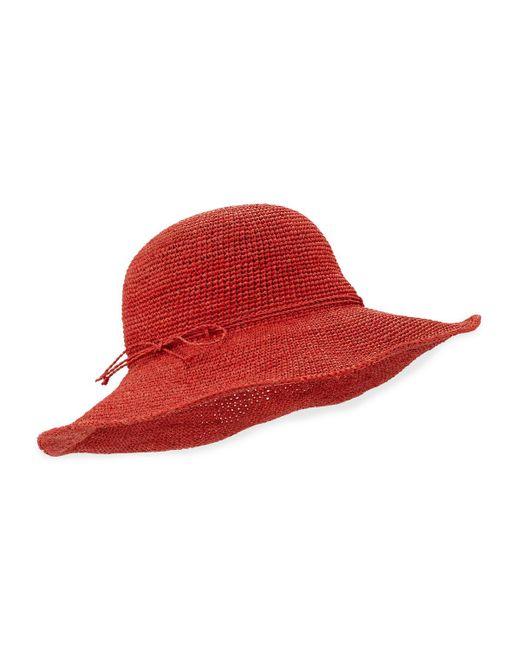 Helen Kaminski | Red Tahani Crochet Raffia Hat | Lyst