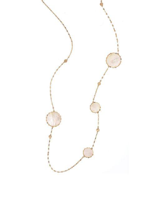 Lana Jewelry | Metallic Blanca Long Disc-station Necklace | Lyst