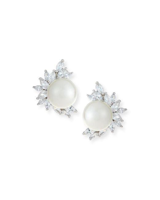 Fallon   Metallic Monarch Pearly Cluster Earrings   Lyst