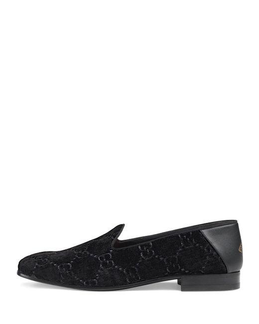 0f465419e2b ... Gucci - Black GG Velvet Loafer - Lyst ...