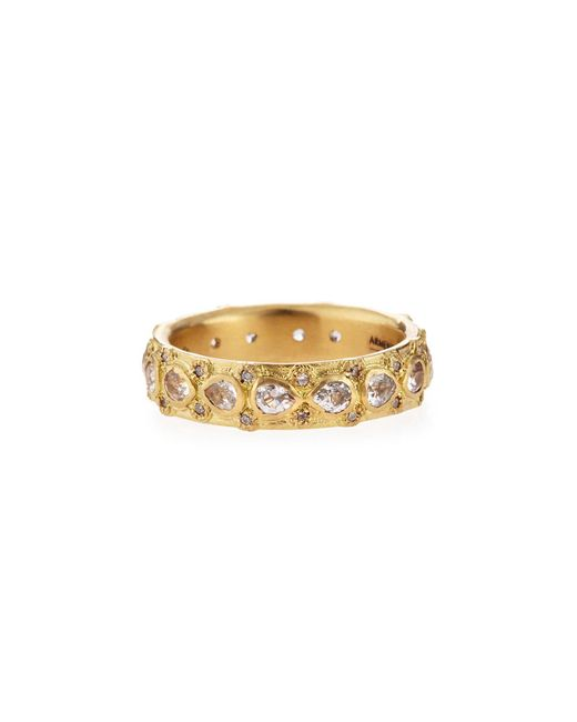 Armenta - Metallic Yellow Gold Lacy Eternity Stackable Ring - Lyst