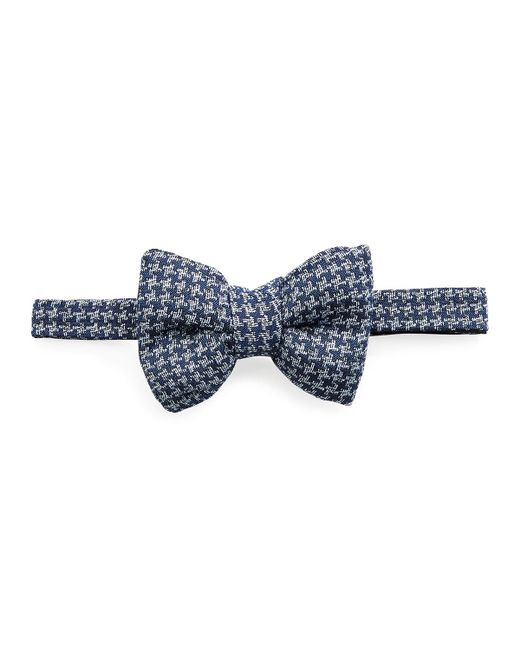 Tom Ford - Blue Classic Houndstooth Bow Tie for Men - Lyst
