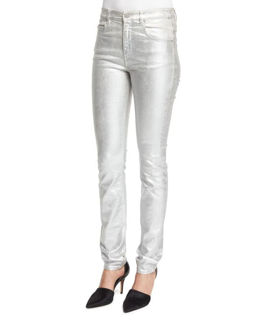 Étoile Isabel Marant | Black Ellos Metallic High-rise Skinny Jeans | Lyst