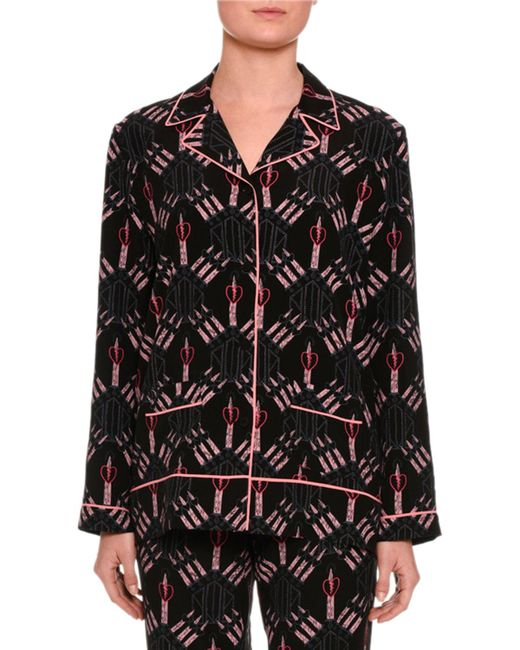 Valentino - Black Love Blades Pyjama Trousers - Lyst