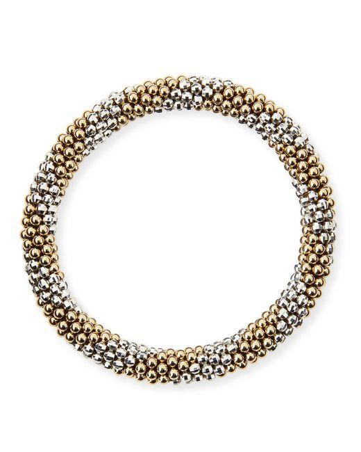 Meredith Frederick - Metallic Elsie D 14k And Silver Bead Bracelet - Lyst