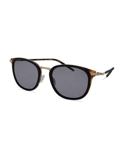 Barton Perreira | Black B030 Polarized Square Sunglasses | Lyst