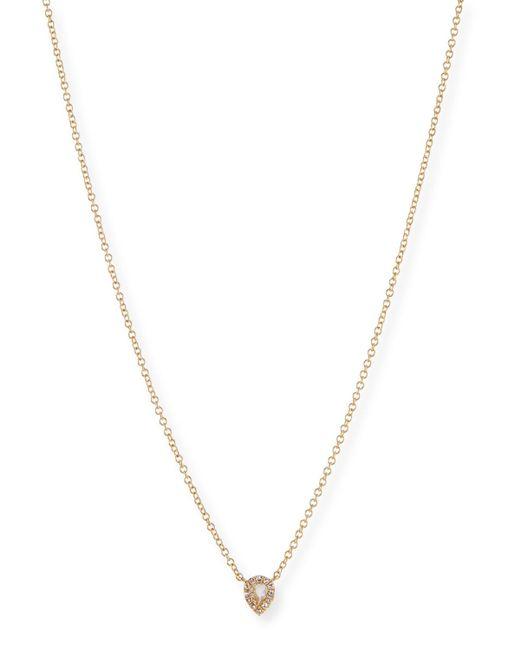 EF Collection - Metallic White Topaz & Diamond Teardrop Necklace - Lyst