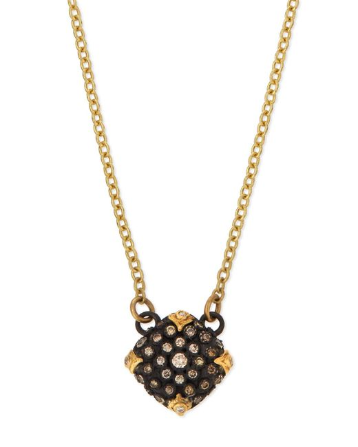 Armenta - Multicolor Old World Midnight Pavé Diamond Cushion Necklace - Lyst