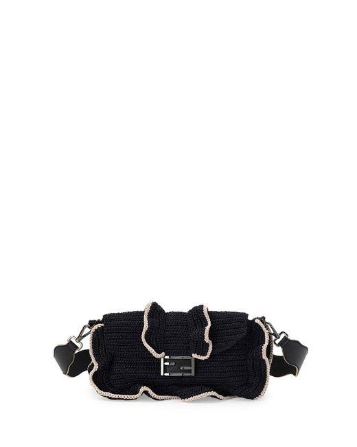 Fendi   Black Baguette Waves Shoulder Bag   Lyst