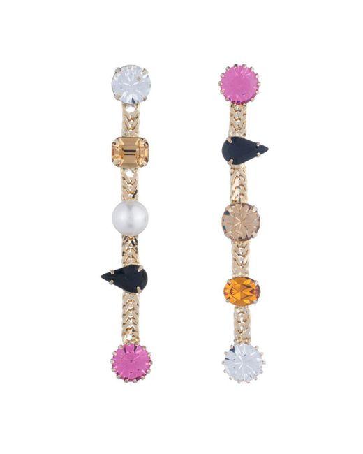 DANNIJO - Metallic Walse Crystal Statement Earrings - Lyst