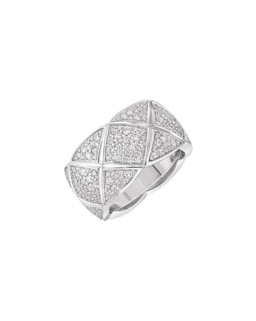 Chanel   Coco Crush Ring In 18k White Gold With Diamonds   Lyst