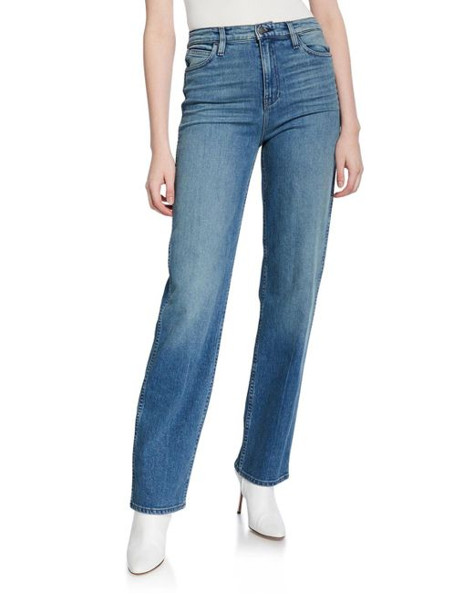 Hudson Blue Faye High-rise Straight Jeans