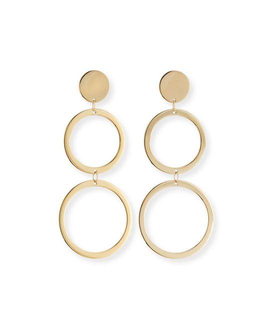 Lana Jewelry   Metallic Fifteen 14k Double-drop Earrings   Lyst