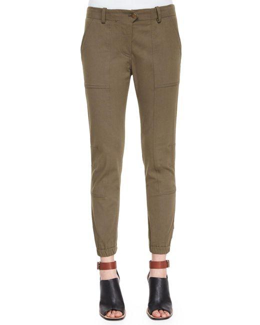 Veronica Beard - Green Field Cargo Ankle Pants - Lyst