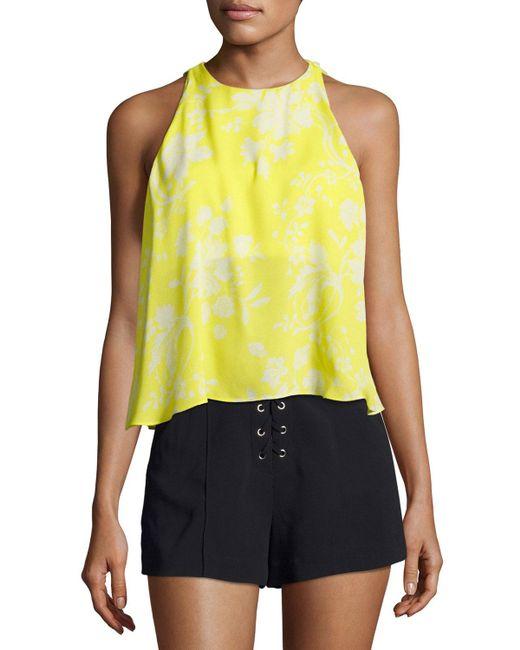 A.L.C. - Yellow Jasper Flyaway Silk Top - Lyst