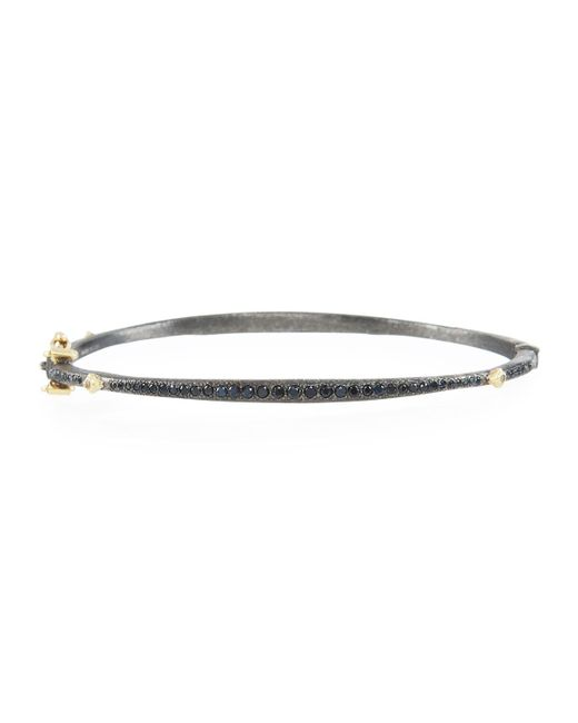 Armenta - Old World Bangle With Black Sapphires & Diamonds - Lyst
