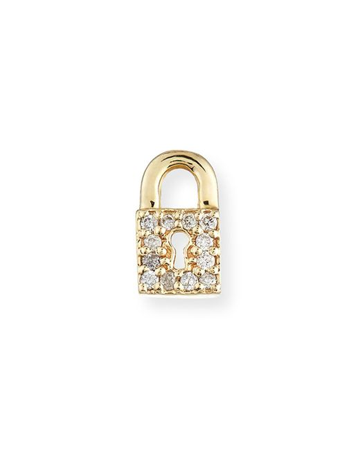 Sydney Evan - Metallic 14k Diamond Lock Single Stud Earring - Lyst
