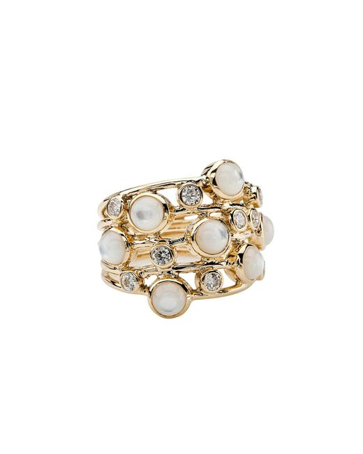 Ippolita - Metallic Diamond & Mother-of-pearl Ring - Lyst