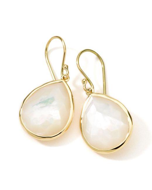 Ippolita | Metallic 18k Gold Rock Candy Medium Mother-of-pearl Teardrop Earrings | Lyst