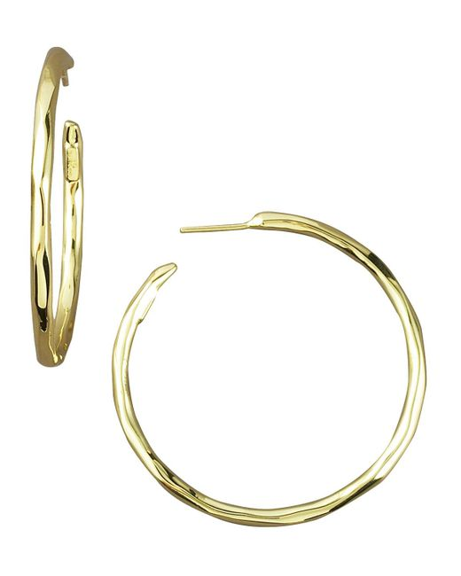 Ippolita - Yellow Thin Glamazon Hoop Earrings - Lyst