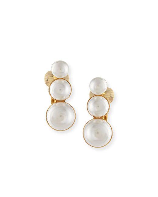 Auden | Metallic Lana Pearl Clip Earring | Lyst