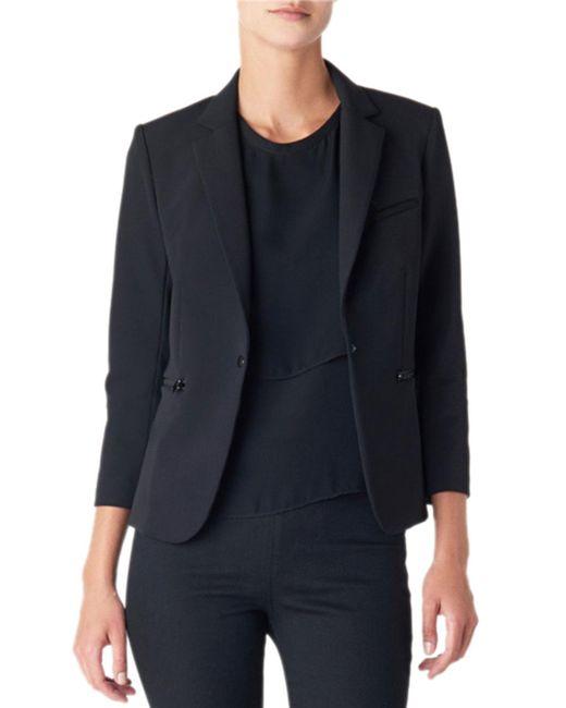 Veronica Beard - Black Scuba Schoolboy Blazer Jacket - Lyst