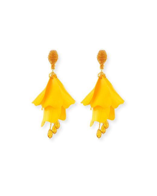 Oscar de la Renta   Red Impatiens Flower Drop Earrings   Lyst