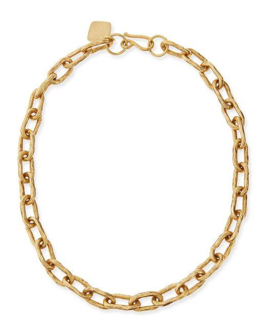"Ashley Pittman - Metallic 18"" Hammered Bronze Chain Necklace - Lyst"