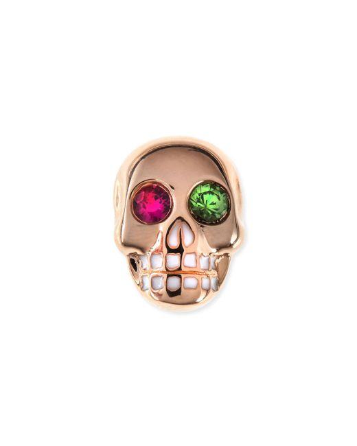 Sydney Evan - Metallic 14k Rose Gold Gemstone Skull Single Stud Earring - Lyst