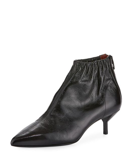 3.1 Phillip Lim | Black Blitz Ruched Leather Bootie | Lyst