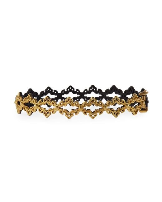 Armenta | Black Old World Open Scroll Huggie Bracelet | Lyst