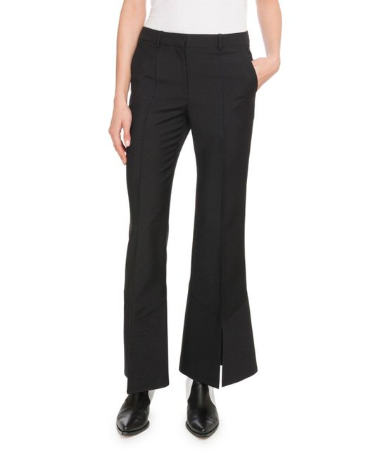 Givenchy - Black Wool Mini Flared Trousers - Lyst