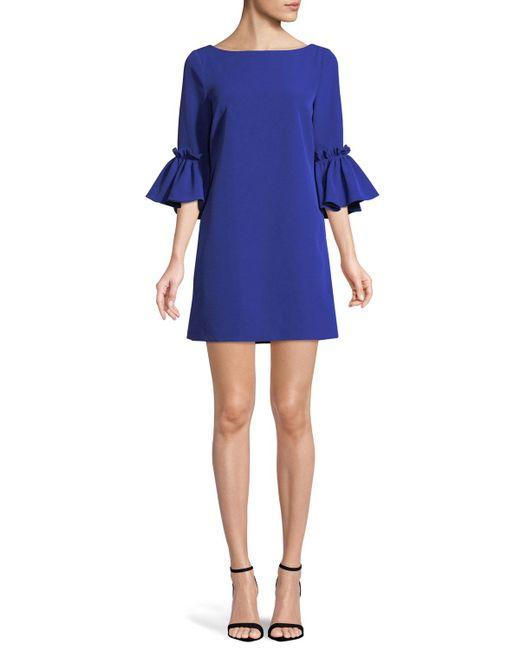 MILLY - Blue Kinsley Italian Cady Shift Dress - Lyst