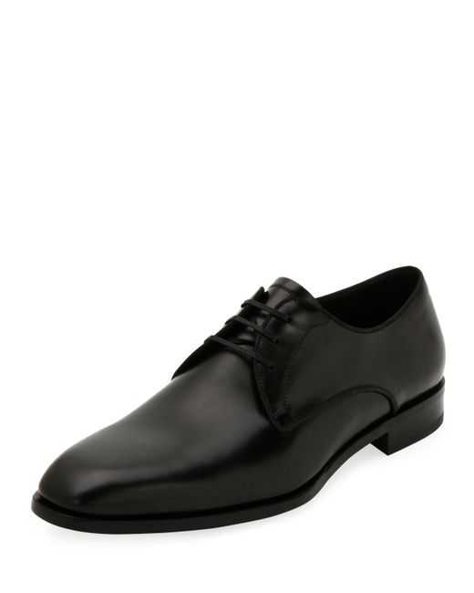 Ferragamo | Black Men's Smooth Calfskin Leather Blucher for Men | Lyst