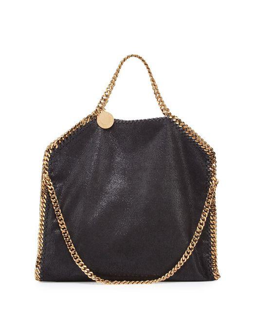 Stella McCartney - Black Falabella Fold-over Tote Bag - Lyst