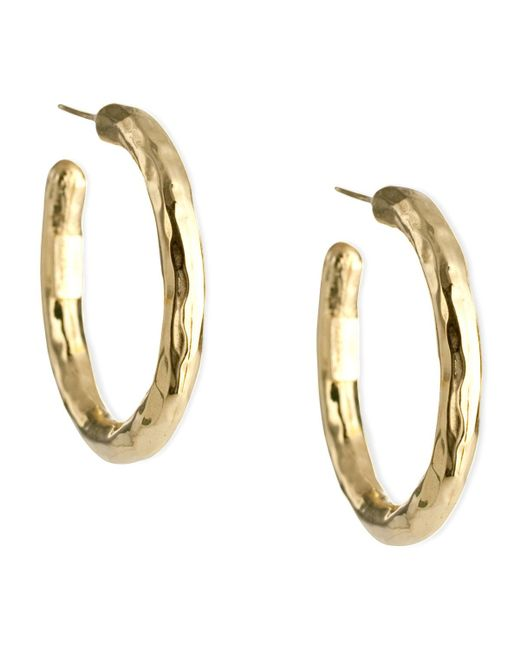 Ippolita - Metallic Glamazon Yellow Gold Hoop Earrings - Lyst
