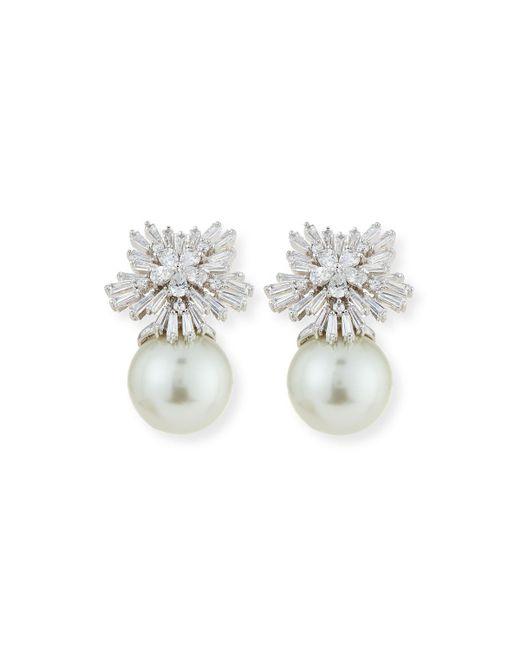 Fallon - Metallic Crystal Starburst Pearly Earrings - Lyst