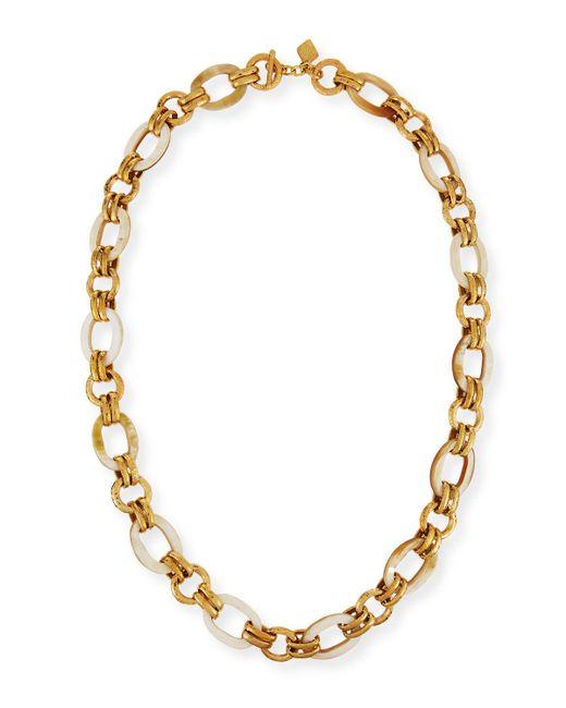 Ashley Pittman - Metallic Ikulu Light Horn & Bronze Link Necklace - Lyst