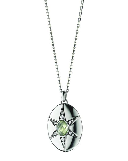 Monica Rich Kosann Prasiolite & White Sapphire Locket Necklace, 32