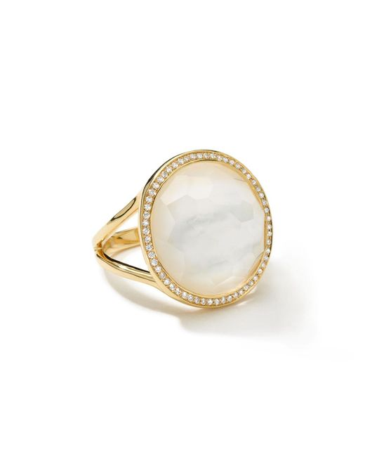 Ippolita | Multicolor Small Diamond-bezel Mother-of-pearl Lollipop Ring | Lyst