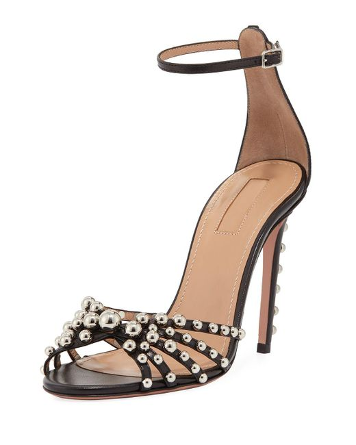 Aquazzura beaded ankle strap sandals free shipping extremely 1jax3B