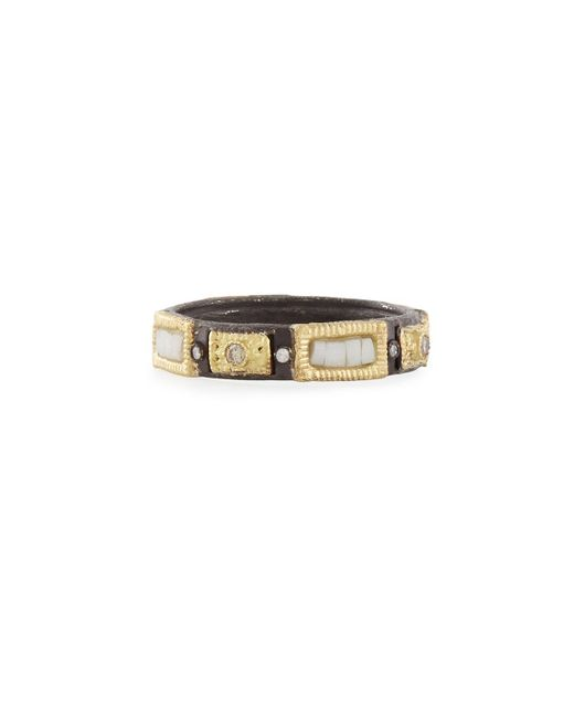 Armenta | Metallic Midnight Silver/gold Stackable Mosaic Ring | Lyst