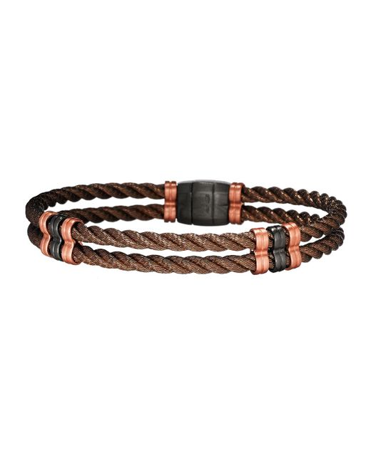 Jan Leslie | Multicolor Men's Bronze 925 Sterling Silver Double-cable Bracelet for Men | Lyst