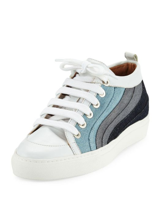 Laurence Dacade | Blue Kool Patchwork Denim Low-top Sneakers | Lyst