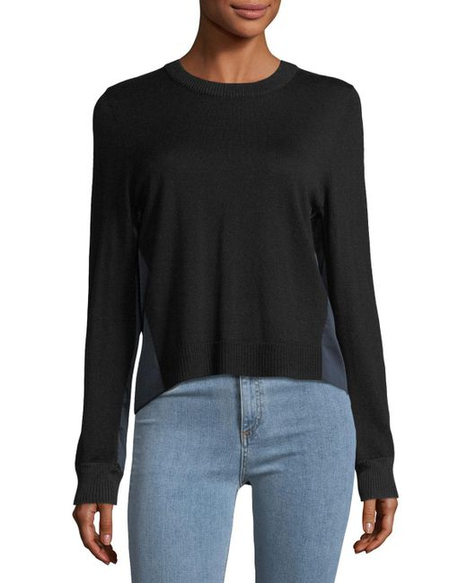 Rag & Bone | Black Sadie Crewneck Long-sleeve Merino Wool Sweater | Lyst